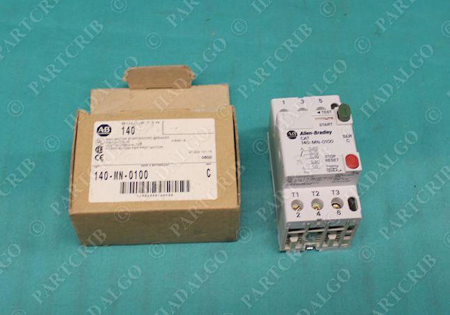 Allen bradley 140 mn 0100 manual motor starter switch for Allen bradley motor overload