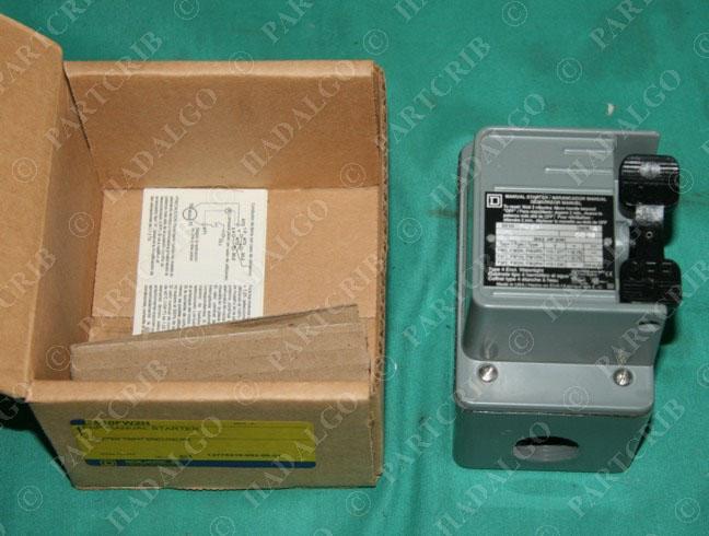 Square D 2510fw2h Fhp Manual Motor Starter 2510 Fw2h