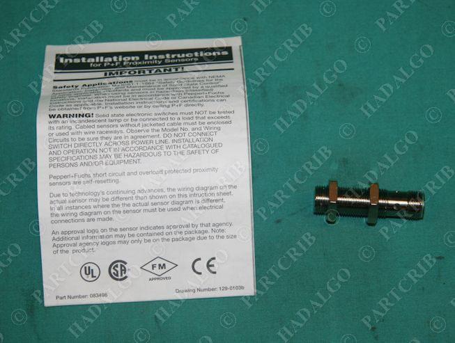 PepperL + Fuchs, NBB4-12GM30-E3-V1, 087740, Inductive Proximity ...