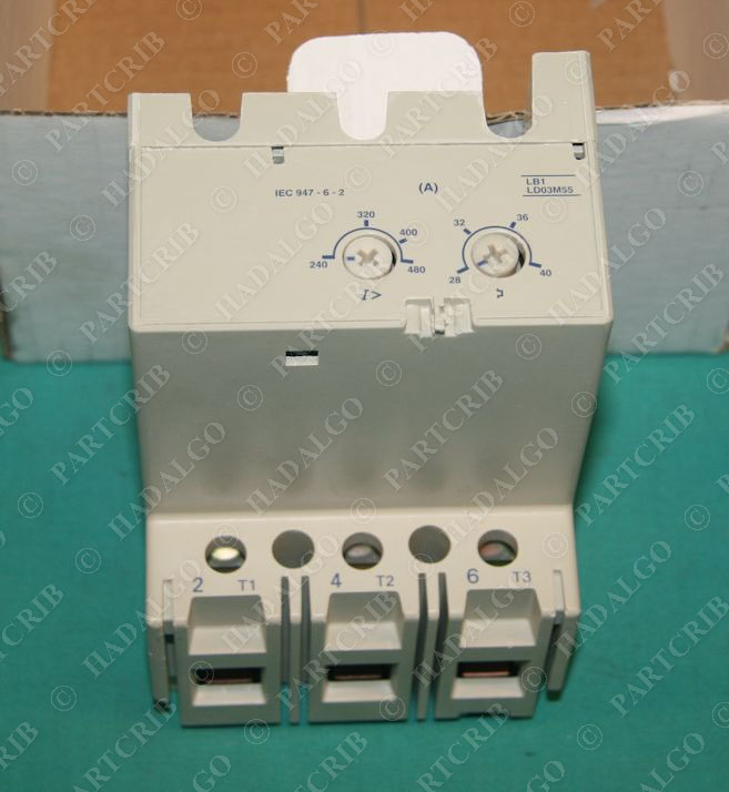 Telemecanique Lb1 Ld03m55 Overload Motor Protection Module 28 40a New Ebay