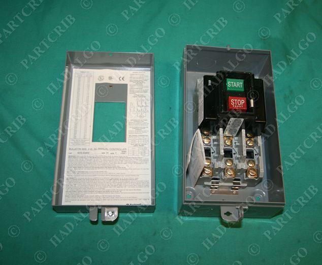 allen bradley 609 baw manual controller size 1 starter
