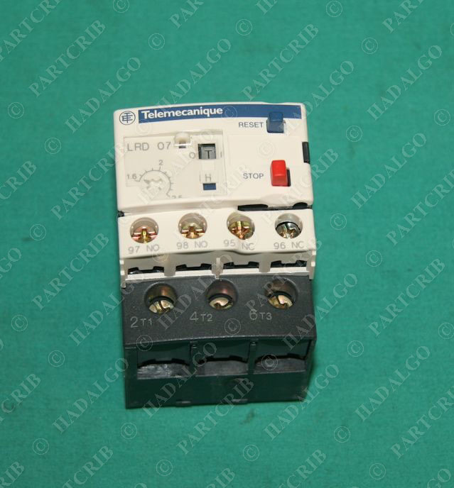 Telemecanique Lrd07 034677 Motor Overload Relay 1 6 2