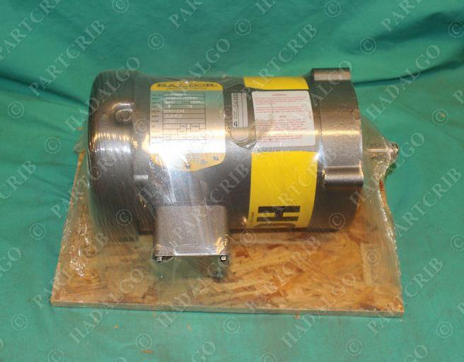 Baldor vm3538 8 ac motor 5hp 1725rpm 3ph tefc 200 208v for 5hp 3ph electric motor