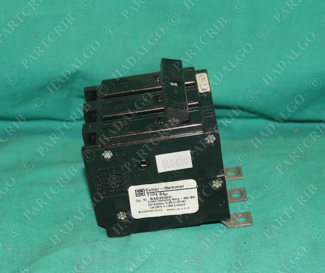Cutler Hammer BAB3030H Circuit Breaker 30A 3Pole 30 amp