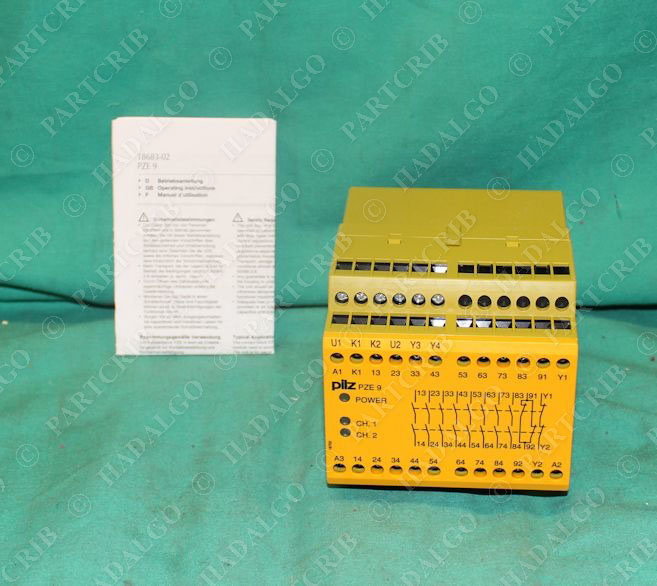 Pilz Pze 9 24vdc 8n O 1n C 774150 Safety Relay 24vdc