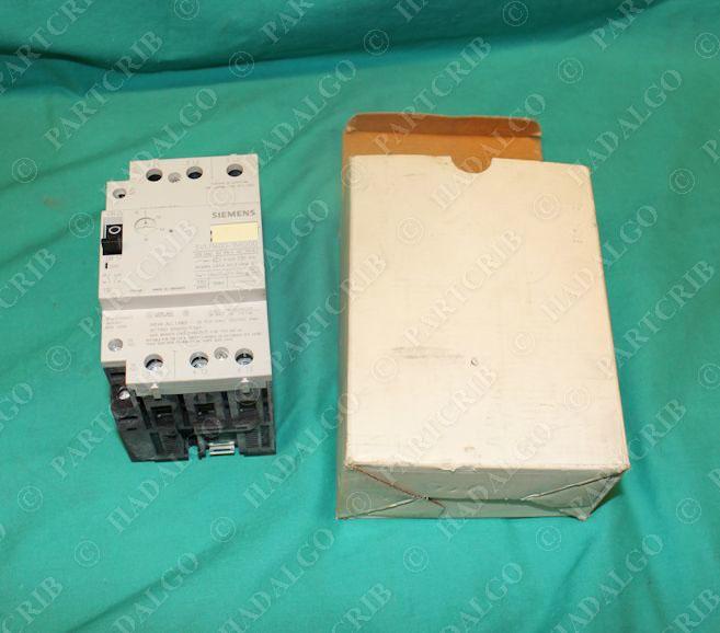 Siemens 3vu16 00 1mg00 manual motor starter overload for Manual motor starter with overload protection