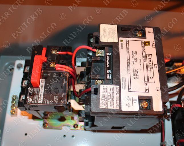 Square d 8539sdg42v81cff4h301p21t11 combination motor for Square d combination motor starter