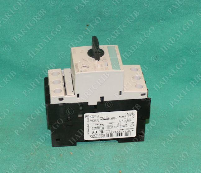 Siemens 3rv1021 4aa10 manual motor starter overload for Manual motor starter with overload protection