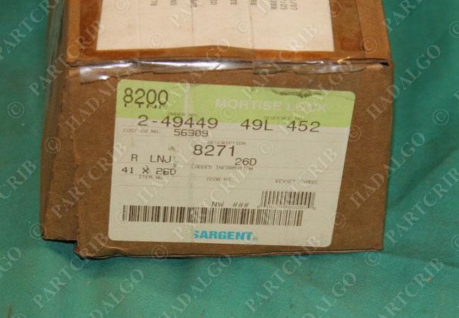 Sargent Mortise Lock 8271 Door Knob Handle R Lnj 26d