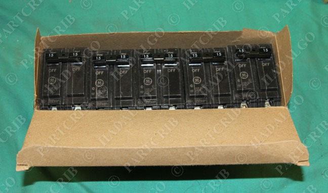 5 ge thql2115 15amp 15a circuit breaker 2 pole thql2 thql for Circuit breaker for 7 5 hp motor