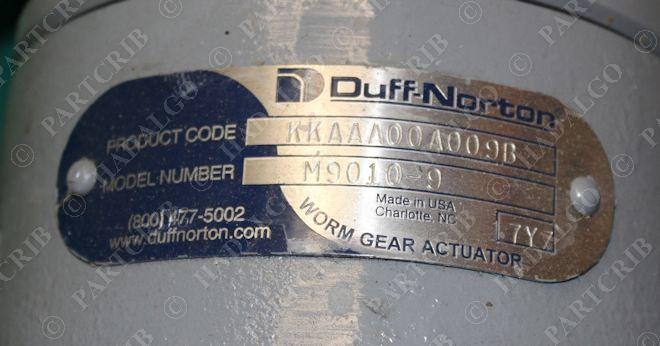 Duff      Norton     M90109  KKAAA00A009B  Linear Worm Gear