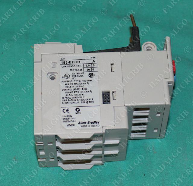 Allen bradley 193 eecb motor overload relay 1 0 5 0a new for Allen bradley motor overload