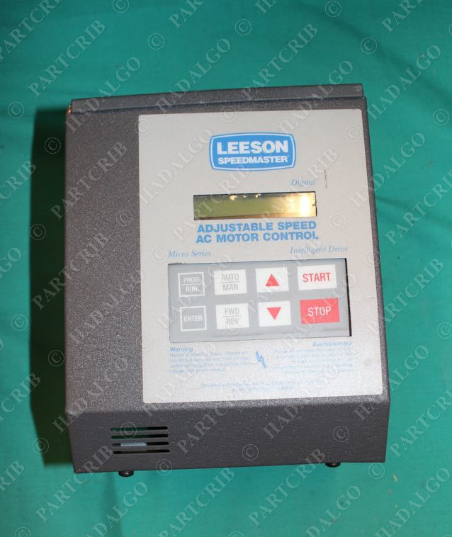 Leeson 174918 3hp vfd speed ac motor control for Two speed motor control