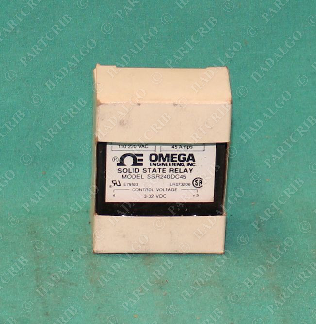 Omega, SSR240DC45, 45a 45 Amp SSR Solid State Relay 3-32VDC NEW on