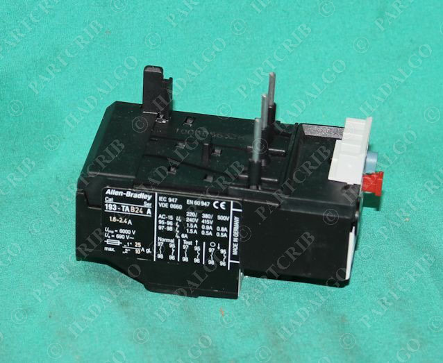 Allen bradley 193 tab24 thermal overload relay motor protector 1 6 2 4a new ebay Motor overload relay