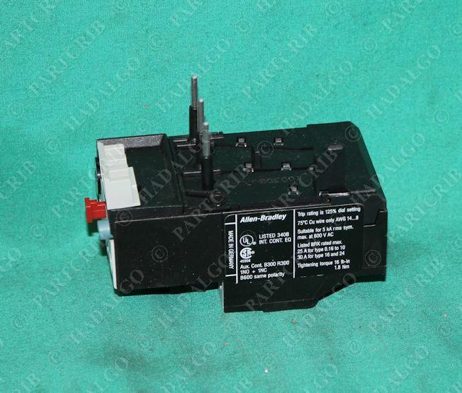Allen bradley 193 tab24 thermal overload relay motor for Allen bradley motor overload