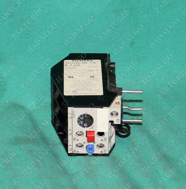 Siemens 3ua5000 1a Motor Starter Overload Relay 1 1 6a