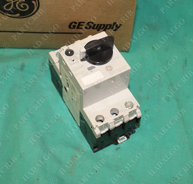 General electric gps1bhac manual motor starter for Manual motor starter with overload protection
