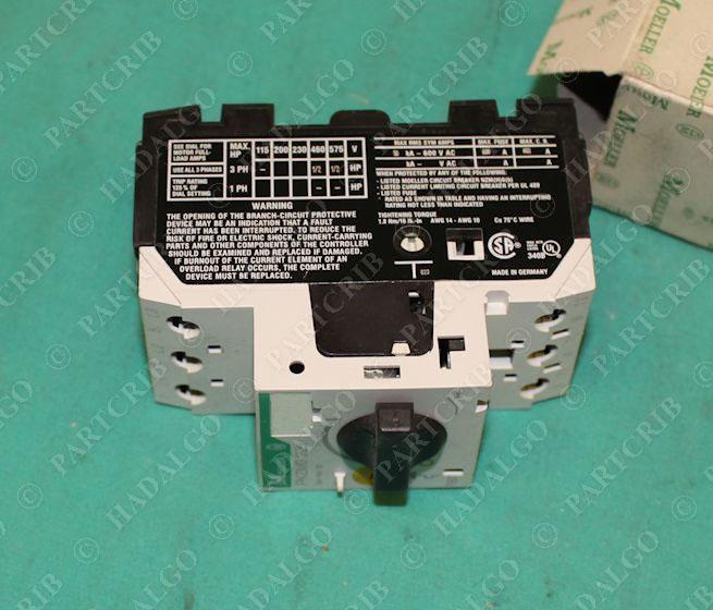 Klockner moeller pkzm0 manual motor starter for Manual motor starter with overload protection