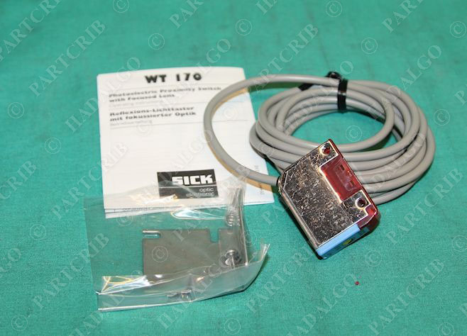 sick wt170 n112 photoelectric proximity switch w focused lens 6 010 195 new partcrib