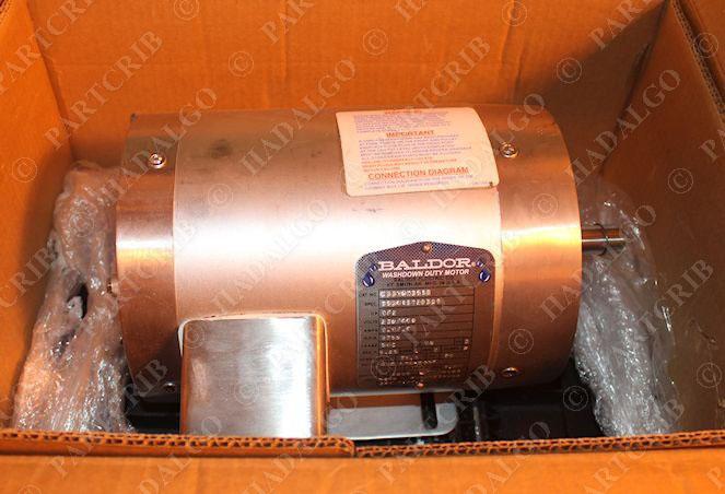 Baldor Csswdm3538 Washdown Duty Motor 1 2hp 3ph 1750rpm