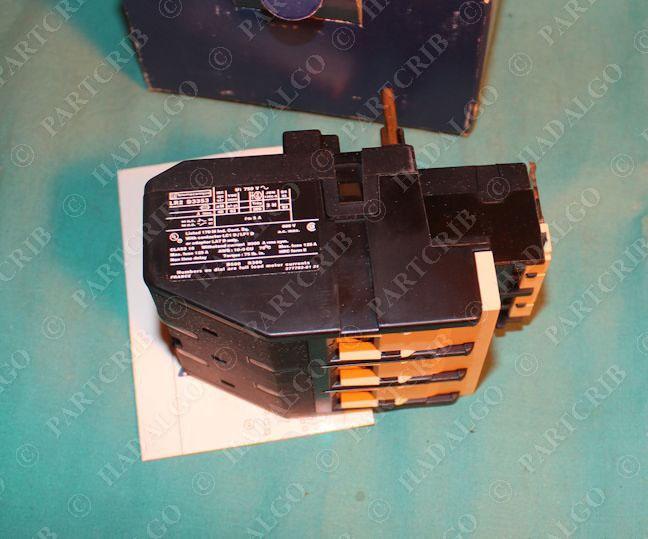 Telemecanique lr2d3353 thermal overload motor protector for Motor thermal overload protection