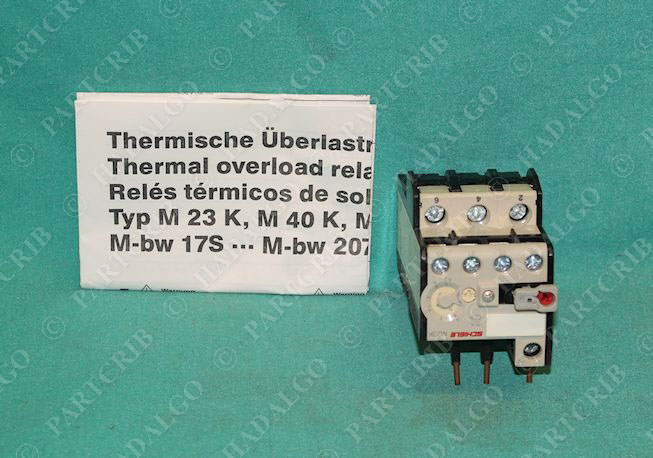Schiele m23k thermal overload relay motor protector 4 6 3a for Motor thermal overload protection