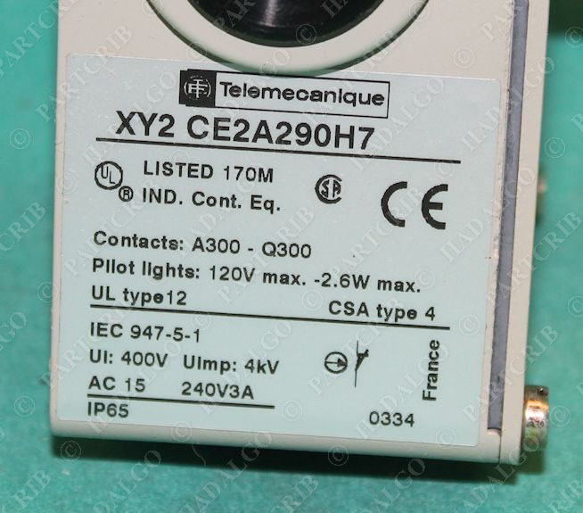 Telemecanique Xy2 Ce2a290h7 Cable Operated Pull Controlled