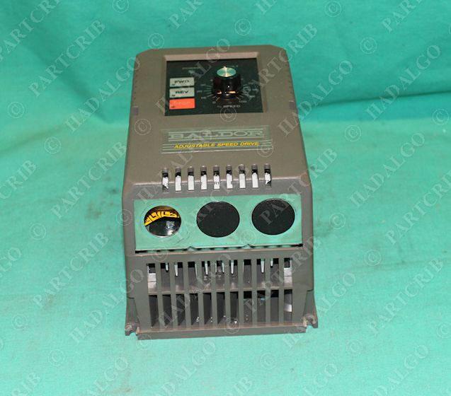 Baldor id15p403 er adjustable speed drive vfd inverter 3hp for Vfd for 3hp motor