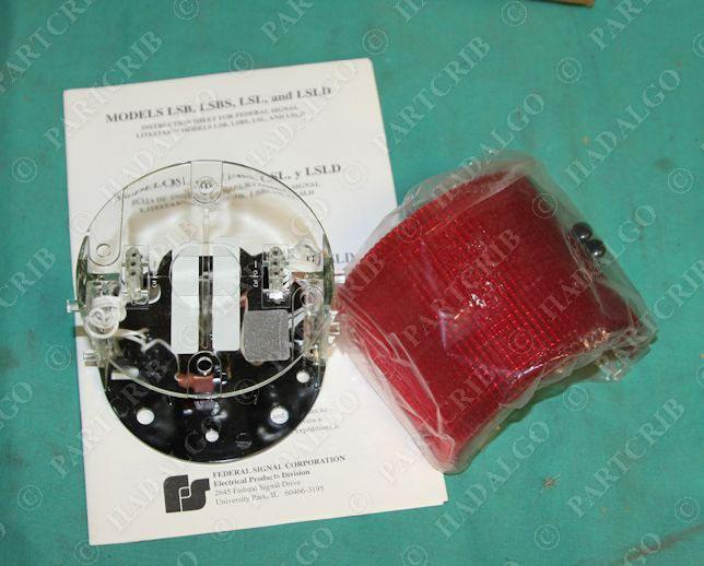 federal signal division lsl 120r litestak red beacon light. Black Bedroom Furniture Sets. Home Design Ideas