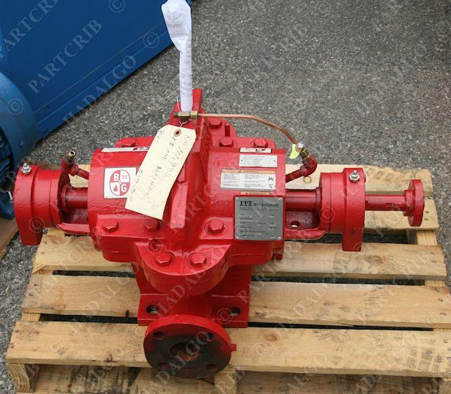 Itt bell gossett hsc type pump motor 150 model 1745rpm for Bell gossett motors