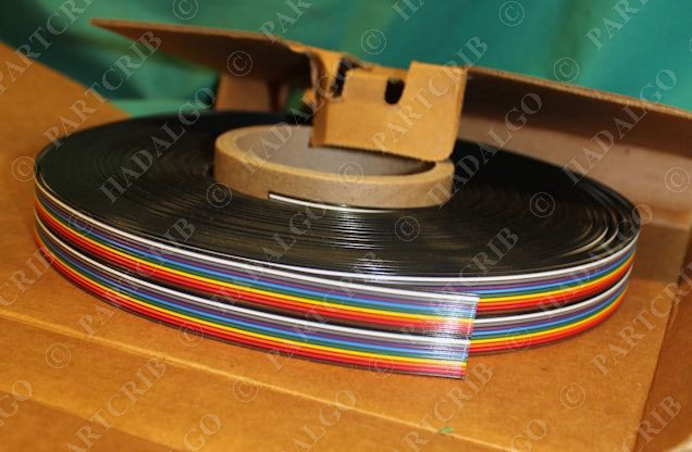 Flat Conductor Cable : Belden r conductor ribbon flat cable awg ft