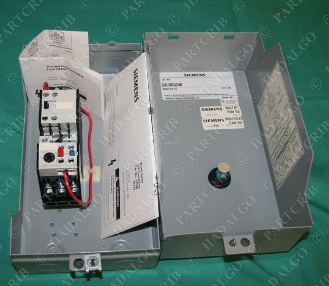 Siemens Sxlhag240 3tf40 3ua50 Motor Starter Enclosure