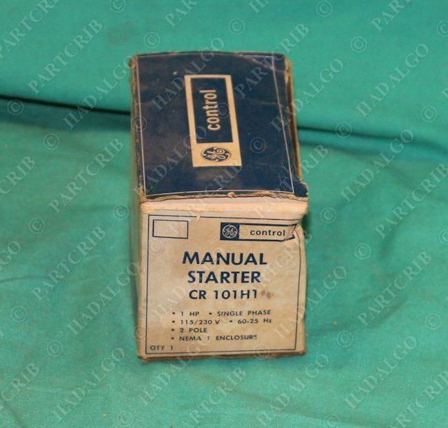 Ge manual starter cr 101h1 1hp single phase 1p 115 230v for Ge manual motor starter