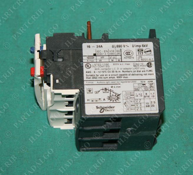 Telemecanique lrd22 motor overload relay schneider 16 24a new Motor overload relay