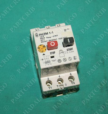 Moeller pkzm 1 1 klockner manual motor starter overload for Manual motor starter with overload protection