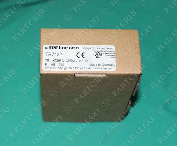 IFM, TR7432, TR-...KDBR12-QFRKG/US/ /V,  Efector Temperature Sensor NEW