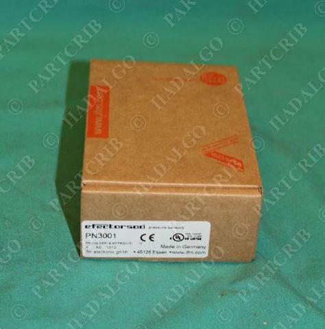 IFM, PN3001, PN-250-SBR14-MFPKG/US/ /V, Efector Pressure Sensor NEW