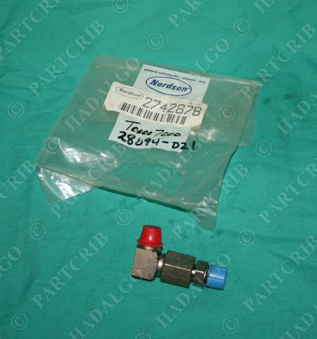 Nordson 274287B Inline Filter Assembly 90deg 50Mesh NEW