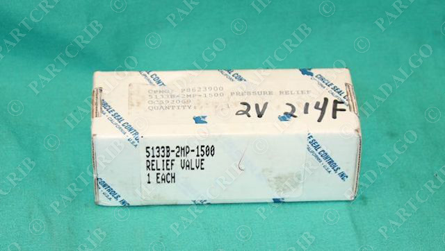 Check One Way Relief Valve 3//8NPT 25psi 119B-3PP Circle Seal