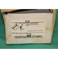 "Appleton, FFL-50, 1/2"" .5"" Mall Iron Pulling Elbows 90's Box of 10"