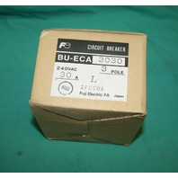 Fuji, BU-ECA3030, Electric Circuit Breaker 3Pole 30A 240VAC NEW