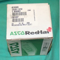 "Asco, 8210G009,  Red-Hat Solenoid Valve 3/4 .75"" Shutoff Oil Water Air Brass NEW"