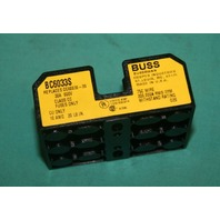 Buss, BC6033S, Cooper Bussman Fuse Holder 3  Triple 30A 600V NEW