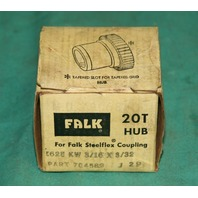 FALK 20T Hub for Falk Steelflex Coupling .625 KW 3/16 x 3/32 704589 J29 NIB