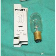 Philips 25T8/DC T8DC 25W 120 V Tubular Bulb Light Lamp NEW