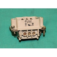 Harting H-BE6SS Plug Connector 6 Pin 10190000 400/6kV/3 Male NEW