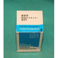 Potter & Brumfield 886 KHU17A11-24V Relay NEW