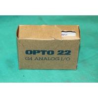 Opto 22 G4 AD4 I/O Analog Module NEW