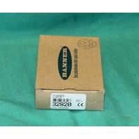 Banner D12SN6FP Plastic Fiber Optic Sensor 10-30VDC Photoelectric 32820 NEW